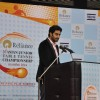 Abhishek Bachchan addressing the audience at Asian Junior TT Championship