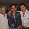 Ravi Kissen and Avinash Wadhavan pose with Rajkumar Kohli at his Birthday Bash