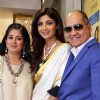 Shilpa Shetty poses with guests at the inauguration of a Jewelry showroom in New Delhi