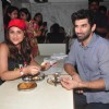 Parineeti and Aditya enjoy their meal at Madras Cafe