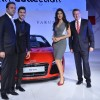 Katrina Kaif poses with delegates at Varun Bahl's Show for Audi