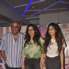 Boney Kapoor with Sridevi and Jahnavi Kapoor at the Screening of Marathi Movie Taapal