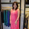 Amrita Raichand poses for the media at Ritu Kumar Store Launch