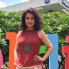 Tisca Chopra poses for the media at Bangalore Literature Festival
