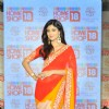 Shilpa Shetty poses for the media at the Launch of SSK Sarees with Home Shop 18