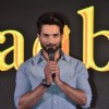 Shahid Kapoor adressing the audience at the Book Launch of Haider, Omkara and Maqbool