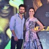 Shahid Kapoor and Shraddha Kapoor pose for the media at the Book Launch of Haider,Omkara and Maqbool