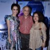 Shraddha Kapoor poses with Mukesh Bhatt and his wife at the Special screening of Haider