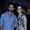 Shahid Kapoor and Shraddha Kapoor pose for the media at the Special Screening of Haider