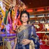 Tanishaa Mukerji poses for the media at North Bombay Sarbojanin Durga Puja