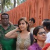 Esha Kansara snapped at North Bombay Sarbojanin Durga Puja