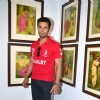 Randeep Hooda poses for the media at the Promotion of Rang Rasiya with an Art Exhibition