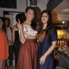 Twinkle Khanna poses with Sonakshi Sinha at Laila Singh Showcase