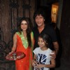 Chunky Pandey snapped with family at Karva Chauth Celebrations