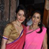 Manyata Dutt pose with a friend at Karva Chauth Celebrations