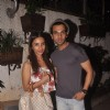 Rajkummar Rao poses with Patralekha at the Special Screening of Sonali Cable