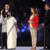 Mamta Bannerjee addresses the Opening Ceremony of the Indian Super League