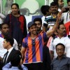 Hrithik Roshan greets the fans at the Opening Ceremony of the Indian Super League