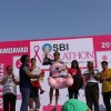 Winners at the Inaugural edition of 'SBI Pinkathon 2014 Amdavad'