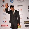 Akshay Kumar waves to the media at the 16th MAMI Film Festival