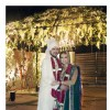 Dia Mirza and Sahil Sangha poses for the media post their wedding