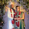 Dia Mirza and Sahil Sangha pose for the media at their Wedding Ceremony