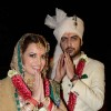 Dia Mirza and Sahil Sangha greets the media at their Wedding Ceremony