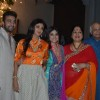 Shilpa Shetty poses with her family at the Diwali Bash