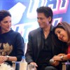 Deepika Padukone, Shah Rukh Khan and Farah Khan share a laugh during the Promotion of Happy New Year