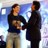 Deepika Padukone and Shah Rukh Khan perform at the Promotions of Happy New Year in Delhi