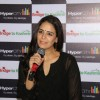 Mona Singh kicks addressing the audience at the donation drive at Hypercity for Kashmir