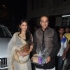 Ashutosh Gowarikar poses with wife at Aamir Khan's Diwali Bash