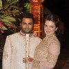 Sachin Joshi poses with wife Urvashi Sharma at his Diwali Bash