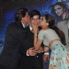 Shahrukh Khan and Deepika kiss Vivaan Shah at the Song Launch of Happy New Year