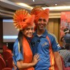 Rishika Mihani poses with Navin Sadarangani at the Grand launch soiree of Pune Anmol Ratn