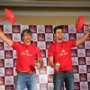 Milind Soman and Randeep Hooda pose with Old Spice props at the 'Mantastic Event ' by Old Spice