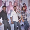 Prabhu Deva, Sonakshi Sinha and Ajay Devgn pose for the media at the Song Launch of Action Jackson