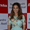 Esha Gupta poses for the media at the inauguration of Bata Showroom at Bandra