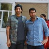 Aditya Roy Kapur and Kunaal Roy Kapur pose for the media at Cerafest