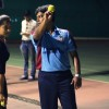 Nivedita Basu snapped practicing for Box Cricket League