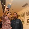 Gul Panag clicks a selfie with a friend at Melted Core Photo Exhibition