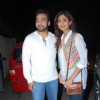 Shilpa Shetty and Raj Kundra pose for the media at the Special Screening of Chaar Sahibzaade