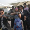Parineeti Chopra and Ali Zafar try rifel shooting at Jagatpura Shooting Range