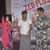 Mona Jaswir Singh, Adil Hussain and Rahul Singh performs an act at the Launch of the Film Zed Plus