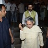 Abhishek Bachchan and Jaya Bachchan were snapped at the Prayer Meet of Ravi Chopra
