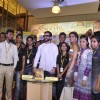 Saif Ali Khan and Ileana D'Cruz pose with the staff of Crossword at the Promotions of Happy Ending