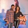 Ajay Devgn poses with Manasvi Mamgai at the Song Launch of Action Jackson