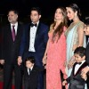 Shakeel Ladak, Amrita Arora and Malaika Arora Khan with their kids at Arpita's Reception