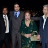 Armaan Kohli poses with his Parents at Arpita Khan's Wedding Reception
