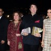 Karisma Kapoor with father Randhir Kapoor, Aunt Reema and Uncle Mohan Jain